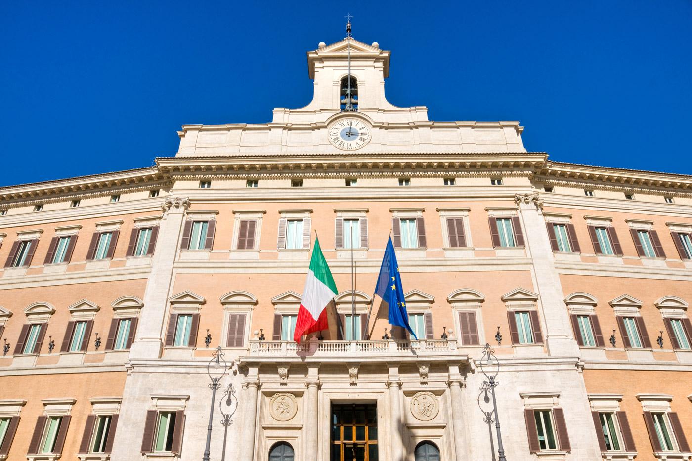 palazzo di montecitorio sede del Parlamento Italiano
