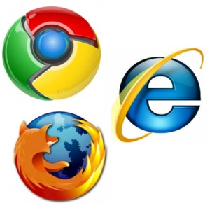 Chrome Firefox e Internet Explorer